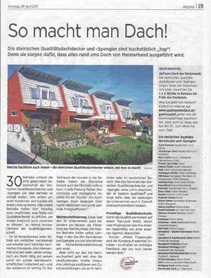 Artikel Kleine Zeitung 29IV2017