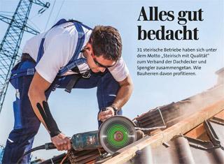 Dachdecker Spengler Kleine Zeitung Beilage Titelbild