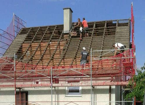 Abbruch bestehender Dachstuhl