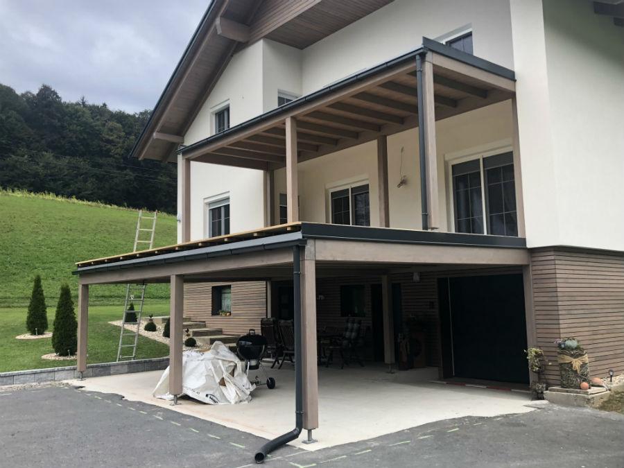 Balkonabdichtung / Terrassenabdichtung Dachdecker, Spengler Salamon & Scherr - Paldau